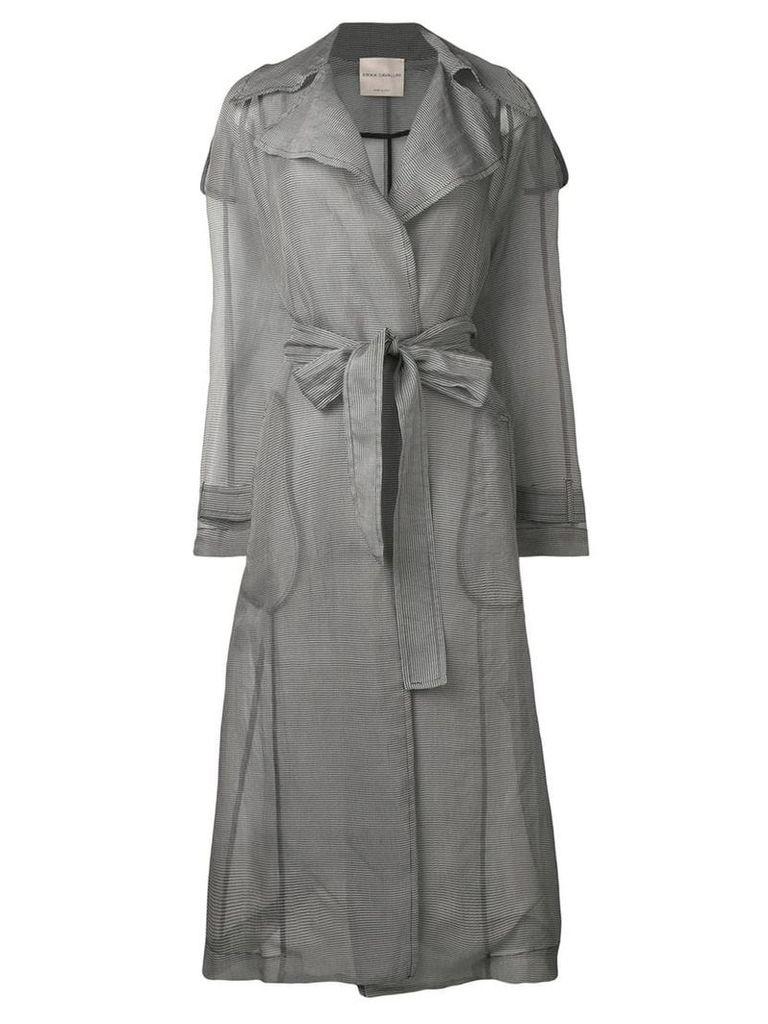 Erika Cavallini sheer construction trenchcoat - Grey