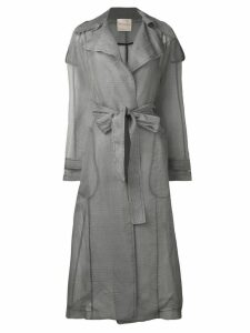 Erika Cavallini sheer construction trenchcoat - Grey