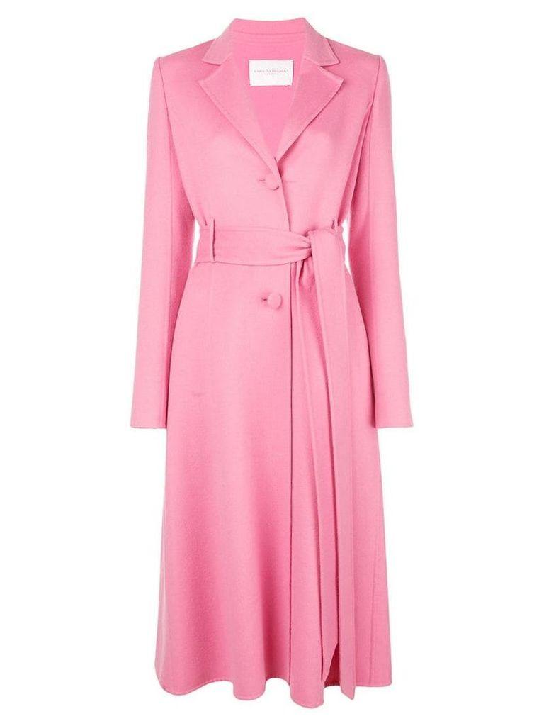Carolina Herrera belted single-breasted coat - Pink