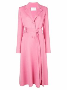 Carolina Herrera belted single-breasted coat - Pink