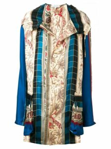 Pierre-Louis Mascia multi-print coat - Blue