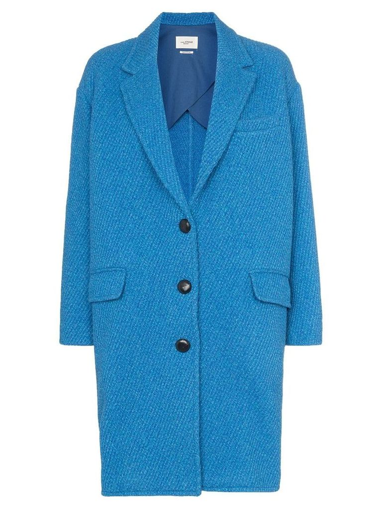 Isabel Marant Étoile Jimi wool cocoon button-up coat - Blue