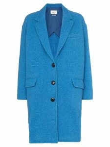 Isabel Marant Étoile Jimi wool cocoon button-up coat - Blue