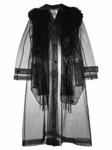 Comme Des Garçons Noir Kei Ninomiya tulle button coat - Black
