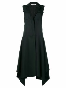 Dorothee Schumacher sleeveless single breasted coat - Blue