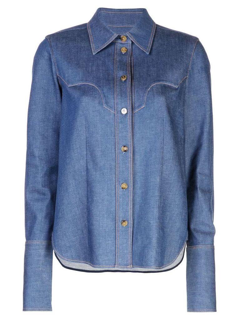 Khaite denim button shirt - Blue