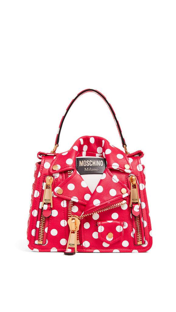 Moschino Polka Dots Biker Bag