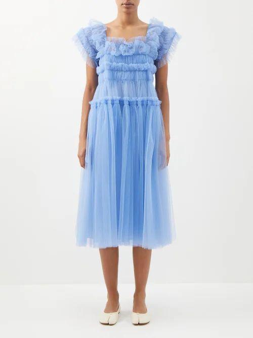 Balenciaga - Diagonal Logo Print Ribbed Cardigan - Womens - Camel