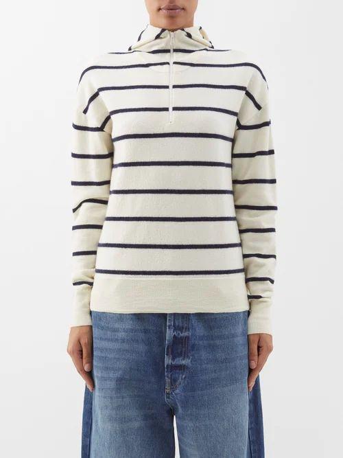 Joseph - Abbot Pleated Diamond Print Silk Skirt - Womens - Yellow Multi
