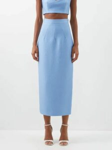Andrew Gn - Malovich Bow Embellished Silk Satin Kaftan Dress - Womens - Pink