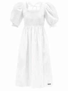A.p.c. - June Floral Print Crepe Dress - Womens - Navy Multi