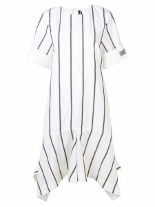 Calvin Klein 205W39nyc striped asymmetric dress - White