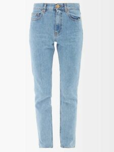 Saint Laurent - Arrow Appliqué Single Breasted Wool Blazer - Womens - Black