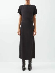 Balenciaga - Check Lined Cotton Twill Trench Coat - Womens - Beige Multi