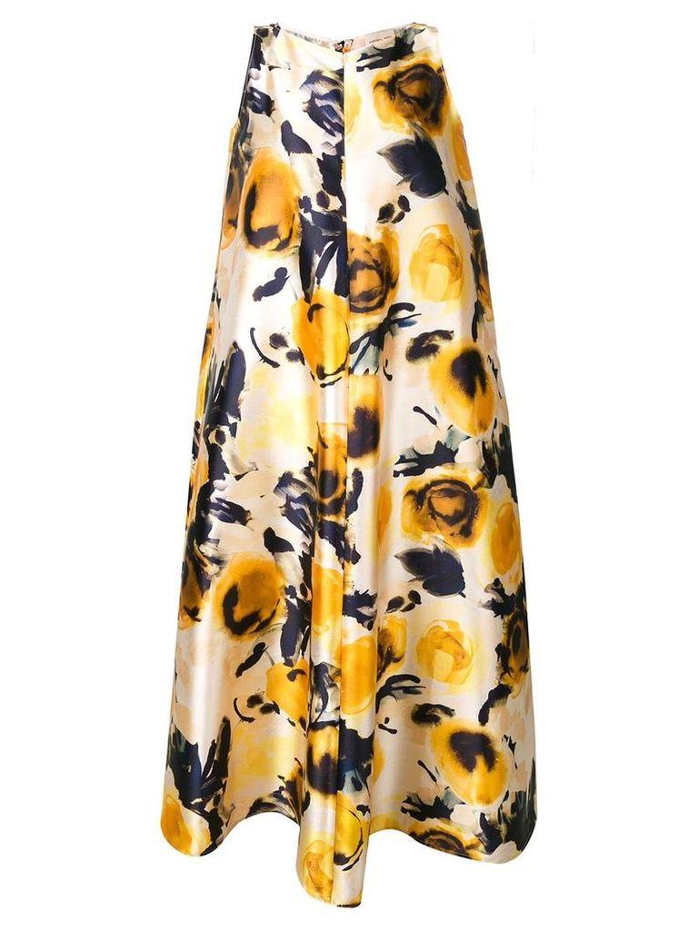 Sartorial Monk floral oversized dress - Yellow