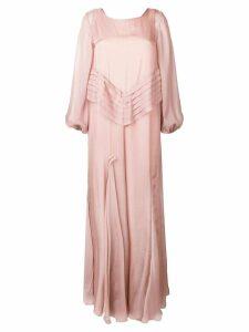 Irina Schrotter flared maxi dress - Neutrals