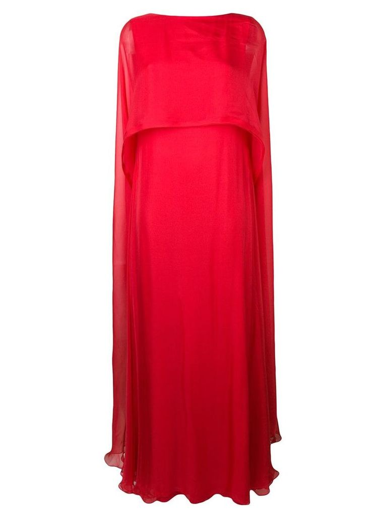 Irina Schrotter cape maxi dress - Red