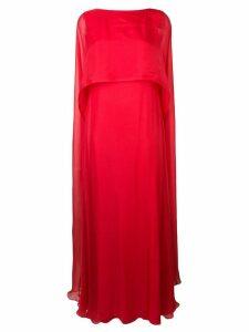Irina Schrotter cape maxi dress - Red