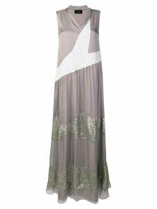 Irina Schrotter embellished flared dress - Grey