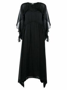 Irina Schrotter long ruffled dress - Black