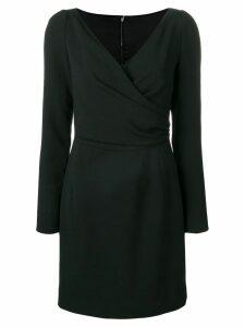 Dolce & Gabbana long sleeve wrap mini dress - Black
