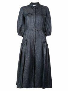Gabriela Hearst denim long-sleeve flared dress - Blue