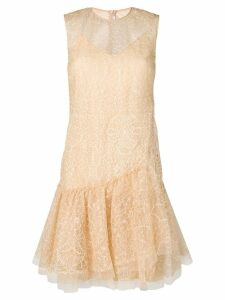 Ermanno Scervino embroidered mini dress - Neutrals