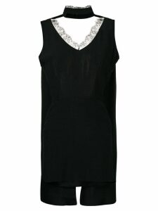 Almaz short open-back dress - Black