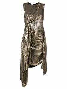 Ainea metallic sequin drape dress - Gold