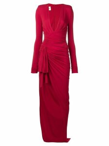Alexandre Vauthier asymmetric stretch jersey dress - Red