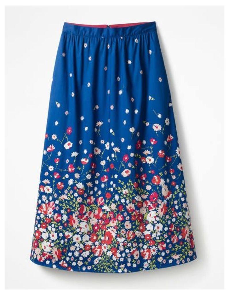Emelia Midi Skirt Blue Women Boden, Blue