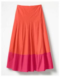Lynne Colour Block Skirt Red Women Boden, Pink