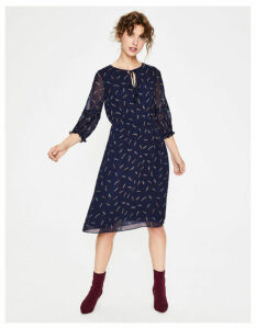 Iona Midi Dress Multi Women Boden, Navy
