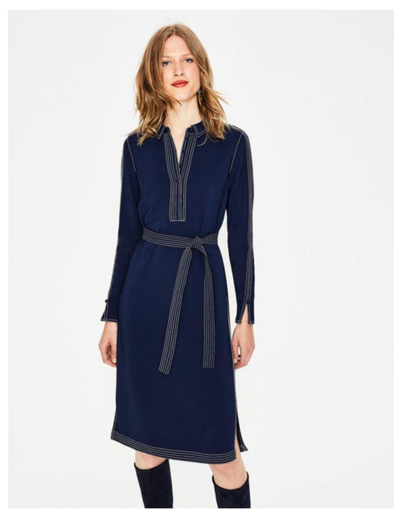 Scarlett Shirt Dress Navy Women Boden, Navy