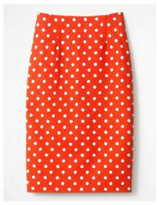 Richmond Pencil Skirt Red Women Boden, Orange