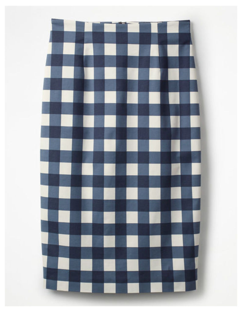 Richmond Pencil Skirt Navy Women Boden, Navy