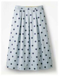 Lola Skirt Blue Women Boden, Multicouloured