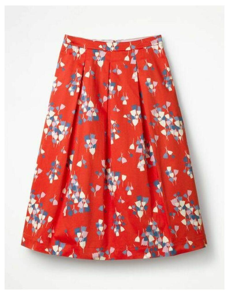 Lola Skirt Red Women Boden, Red