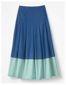 Lynne Colour Block Skirt Blue Women Boden, Blue