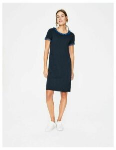 Bridget Jersey Dress Navy Women Boden, Navy