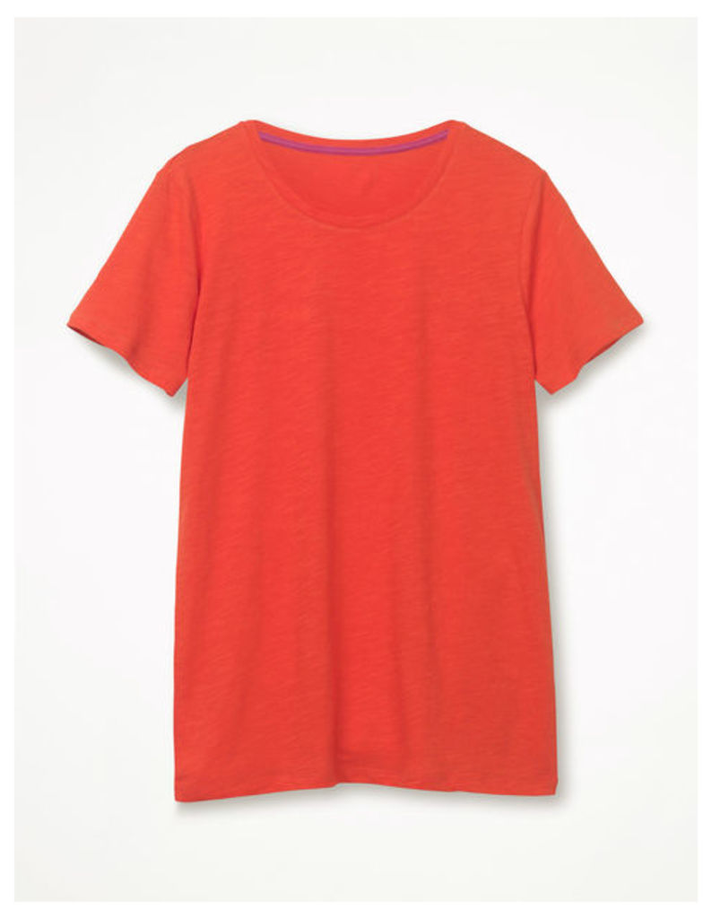 The Cotton Crew Neck Tee Red Women Boden, Red