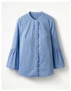 Bell Sleeve Shirt Blue Women Boden, Blue