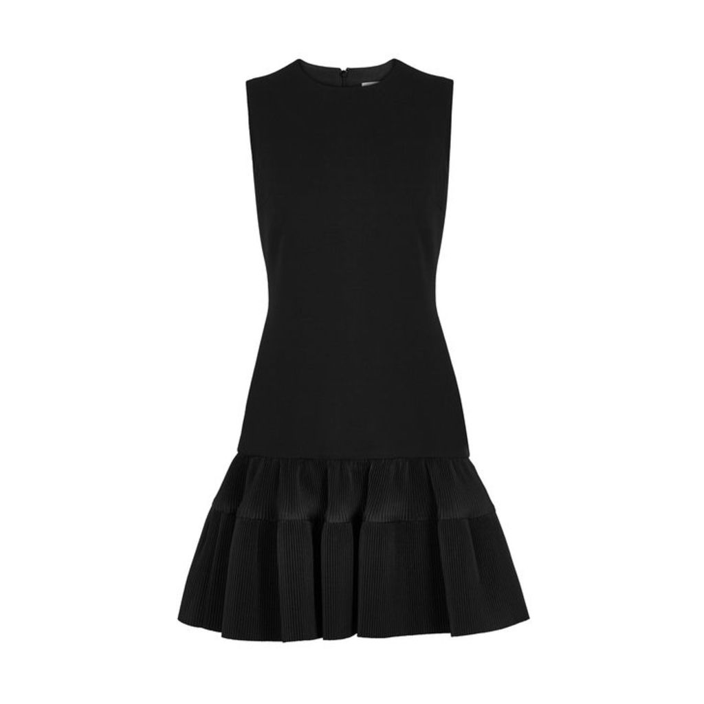 Victoria, Victoria Beckham Black Flared-hem Shift Dress
