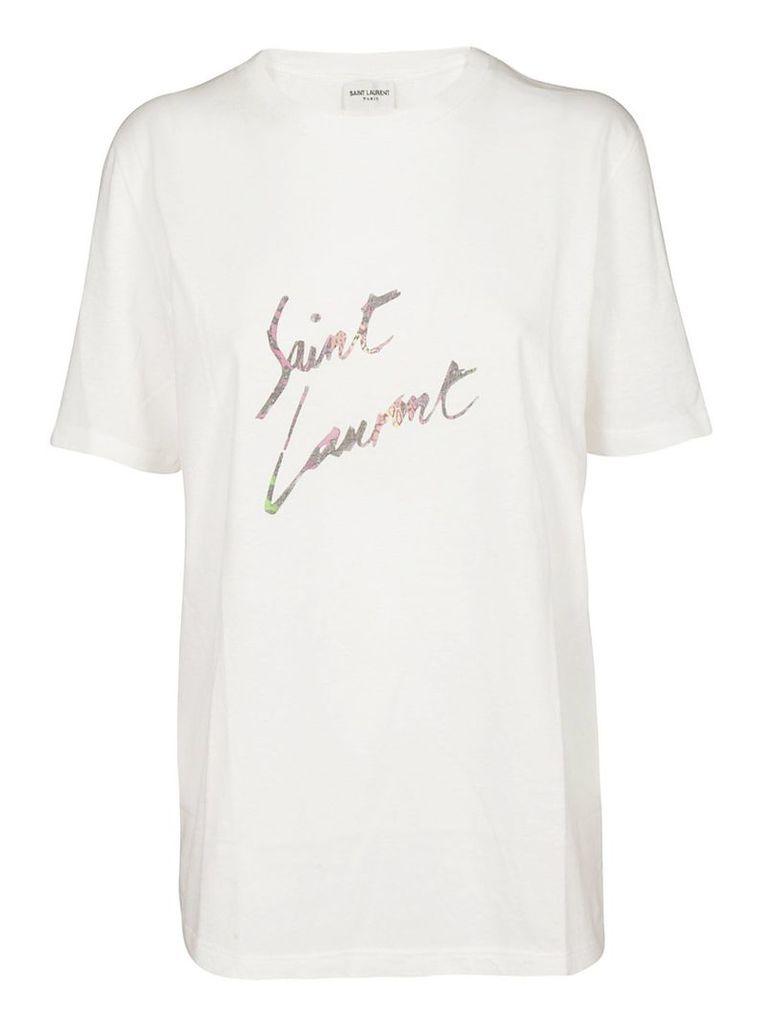 Saint Laurent 80's Style Logo T-shirt