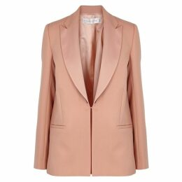 Victoria, Victoria Beckham Light Peach Wool Twill Blazer