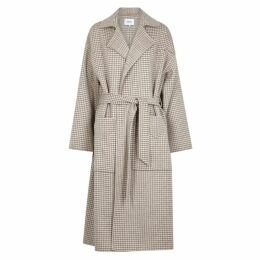 Nanushka Alamo Houndstooth Wool-blend Coat