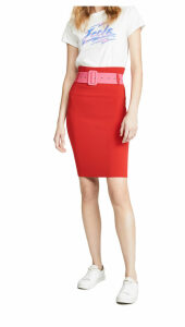 Milly Belted High Waist Skirt