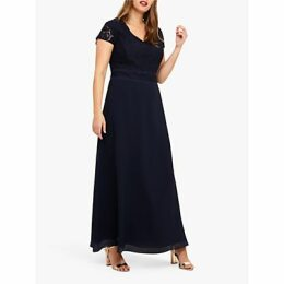 Studio 8 Gemma Lace Maxi Dress, Navy