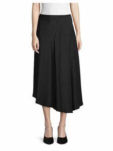 Asymmetrical Silk Midi Skirt