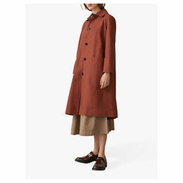 Toast Cotton Canvas Coat, Bright Rust